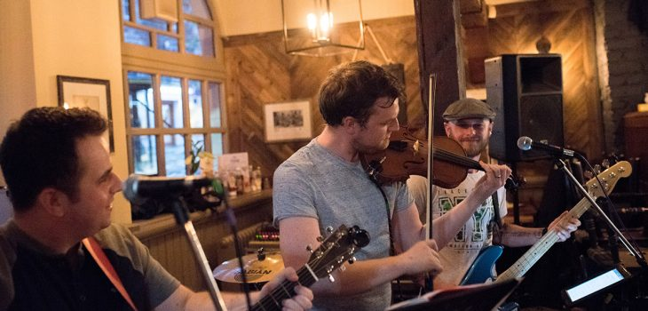 Scottish ceilidh rock band Calm Doon playing at Number 2 Baker Street in Stirling